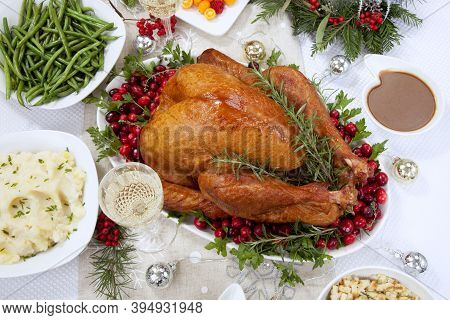 Christmas Roasted Ham And Smoked Turkey
