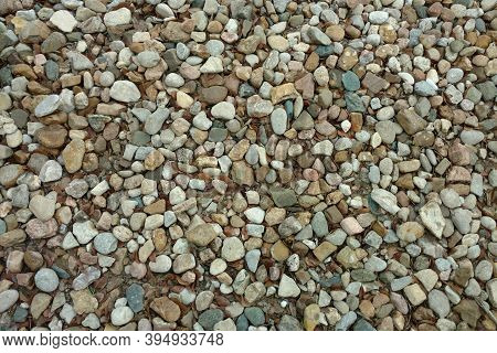 A Close Up View Of A Stone Pebble Rock Gravel Garden Path Backyard Trail Suitable For Background Bac