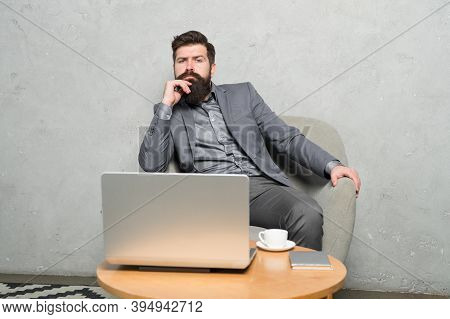Being Available Online. Business Coach Teaching Online. Adult Learner Training Through Online Course