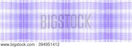 Purple Flannel Checks. Watercolor Square Blanket. Simple Gingham Background. Seamless Flannel Checks