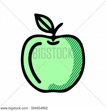 Apple Icon Isolated On White Background From Gastronomy Collection. Apple Icon Trendy And Modern App