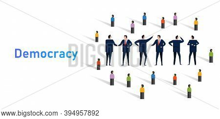 Democracy System Of Government By Population Through Elected Representatives Select Senate Politicia