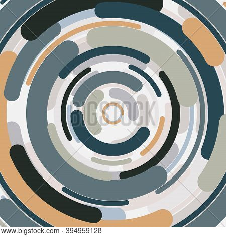 Abstract Round Line Pattern Design Of Center Cover Artwork Background. Use For Ad, Poster, Artwork,
