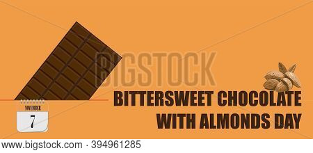 Post Card For Event November Day Bittersweet Chocolate With Almonds Day