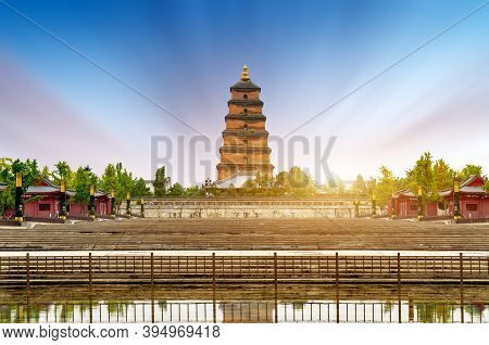 The Dayan Pagoda Was Built In 652 And Is The Earliest Existing Pagoda. Xi'an, China.