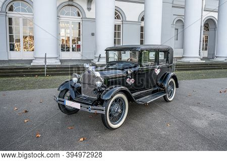 Koblenz Germany 12.12.2019 Oldtimer Old Antique Ford Typ A Tudor Sedan, Built At Year 1928 During A