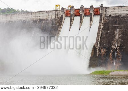 The Dam Khun Dan Prakarn Chon Is A Dam With Hydroelectric Power Plant And Irrigation And Flood Prote