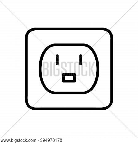 Electric Extension Cords Icon. Simple Illustration Of Electric Extension Cords Line Icon For Web Des