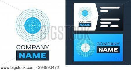 Logotype Target Sport For Shooting Competition Icon Isolated On White Background. Clean Target With