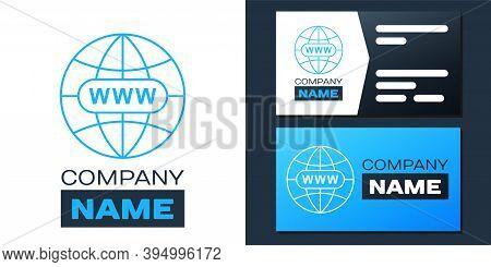 Logotype Go To Web Icon Isolated On White Background. Www Icon. Website Pictogram. World Wide Web Sy