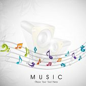 Musical notes. can be use as banner, tag, icon, sticker, flyer or poster.  EPS 10. poster