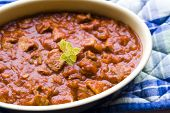 Pork casserole in a fruity tomato sauce poster