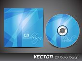 Stylized CD Cover design template. EPS 10. poster