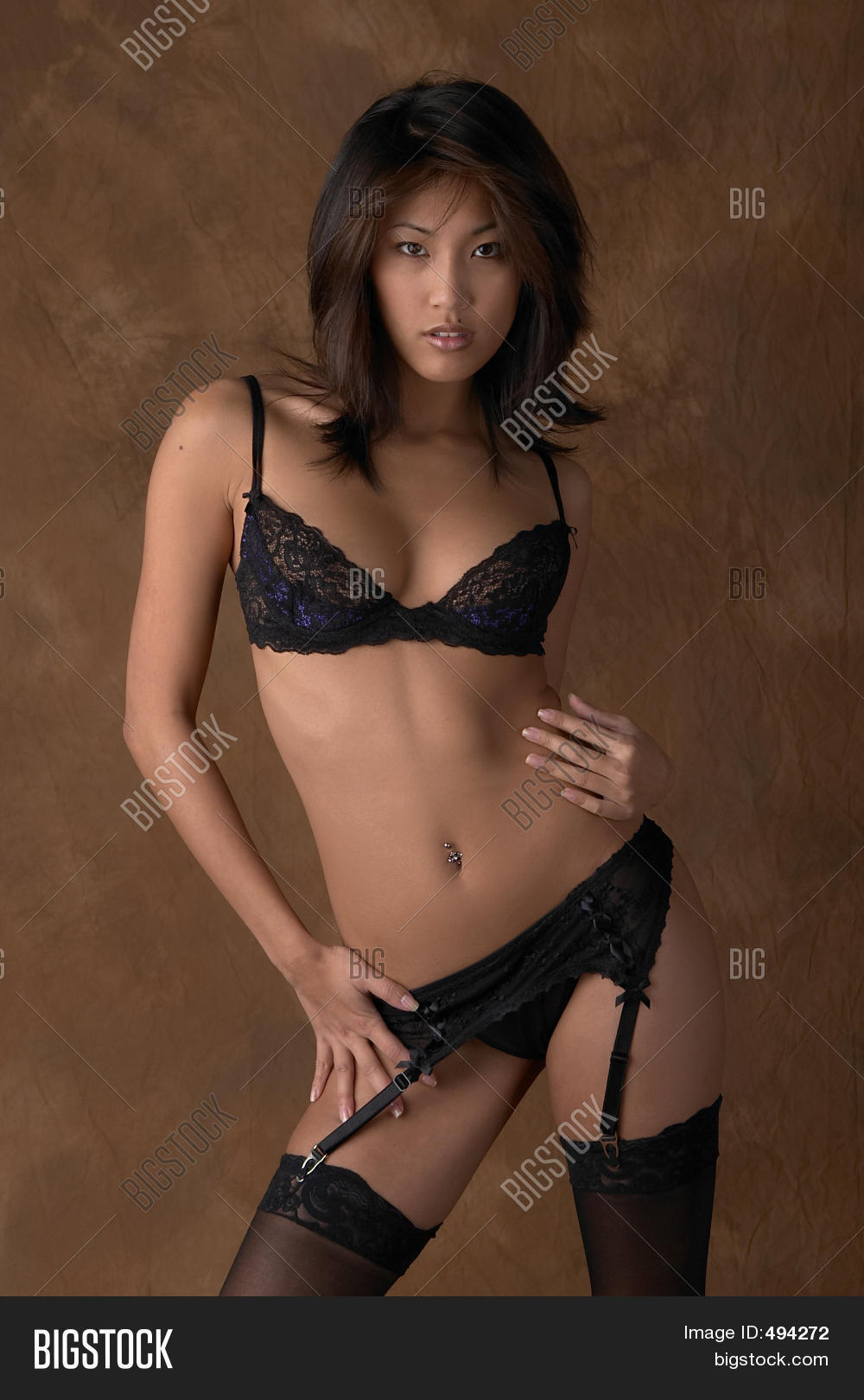 woman black lingerie image & photo | bigstock