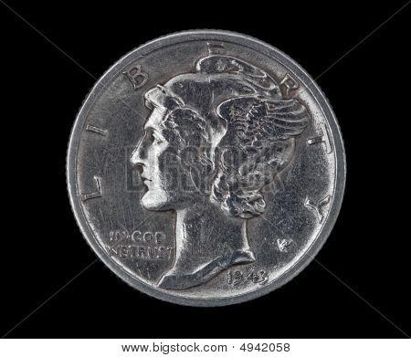 Mercury Head Dime 1943