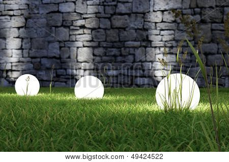Glowing Light In The Grass