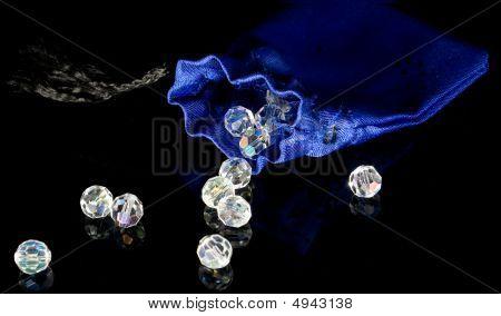Blue Sack And Diamonds