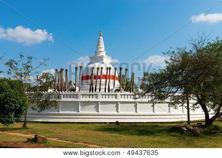 Thuparamaya or Thuparama dagoba (stupa) in Anuradhapura Sri Lanka poster