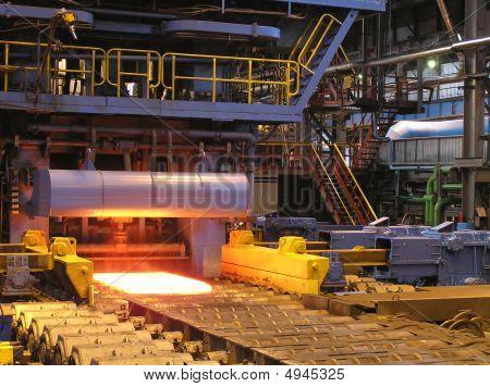 Produktion von der Stahlblech.