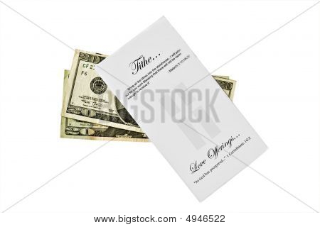 Tithe Envelop With Cash