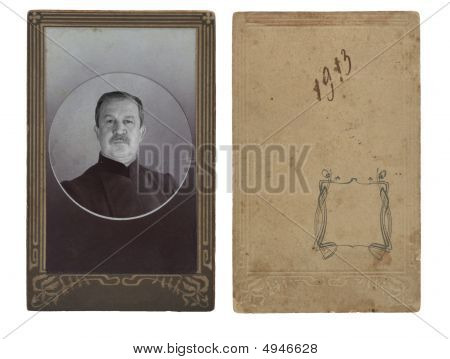 Ancient Photo Of The Elderly Man
