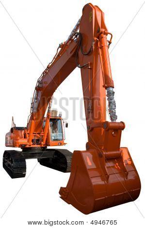 New Orange Excavator