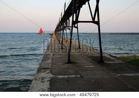Sturgeon Bay Ship Canal Pierhead Lighthouse. Wisconsin, Usa