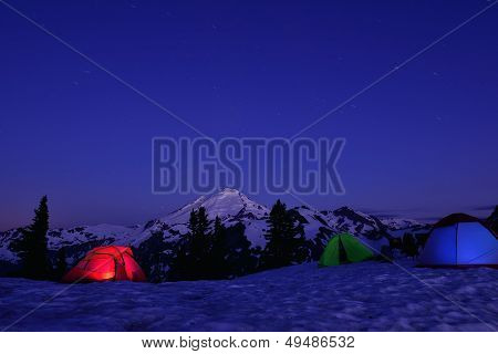 Snow Camping at Artist Point Mt. Baker-Snoqualmie National Forest poster