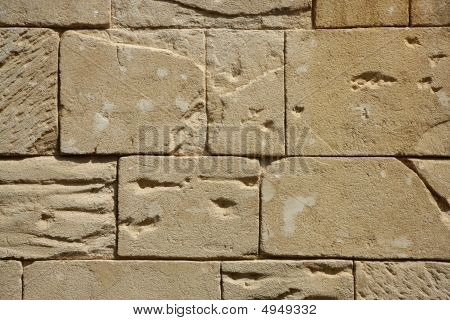 Big rectangle masonry stones on a wall fake stone poster