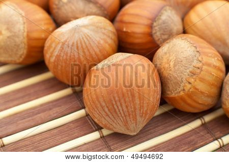 hazelnuts as background