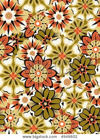 Seamless Multicolored Floral Background