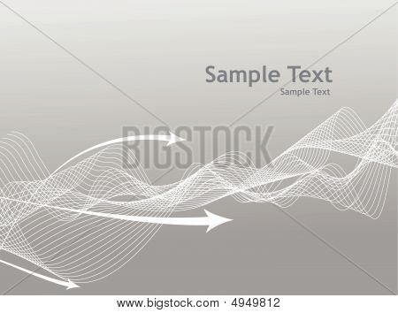abstract wave arrow line background with gray theme poster