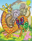 a digitally illustrated colorful and funny cartoons poster