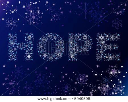 Snowflake HOPE background