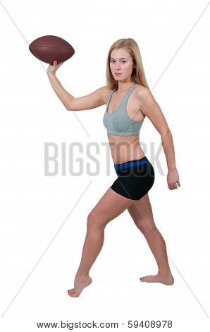 Woman Playing Football