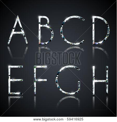 Diamond alphabet letters - eps10