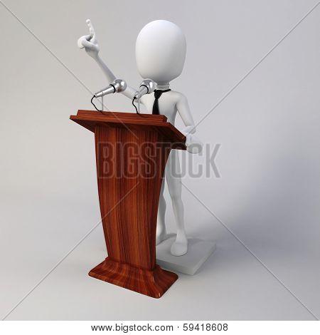3d man giving speech