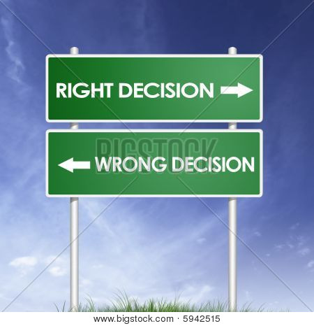 Right Wrong Decision Board