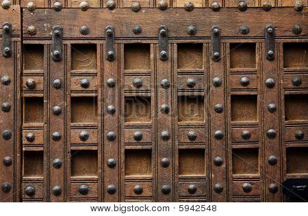 Wooed Door Detail