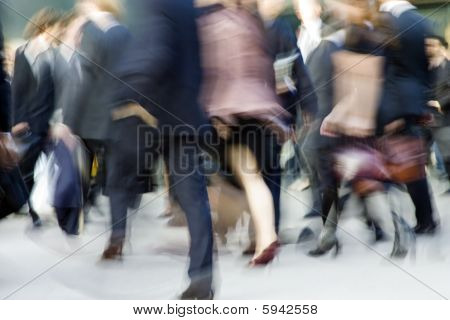 Busy People Blur