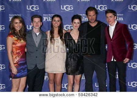 SANTA BARBARA - FEB 1: Heather Braverman, Tommy Nelson, Courtney Baxter, Pilar Lopez de Ayala, Spencer List at the SBIFF Honors Cate Blanchett at Arlington Theater on Feb 1, 2014 in Santa Barbara, CA