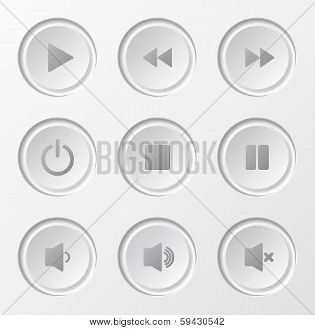 Navigation Button Set White