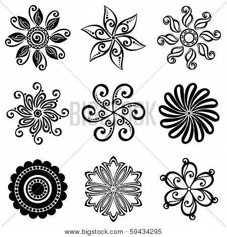 Vector Set Deco Small Circles. Design elements poster