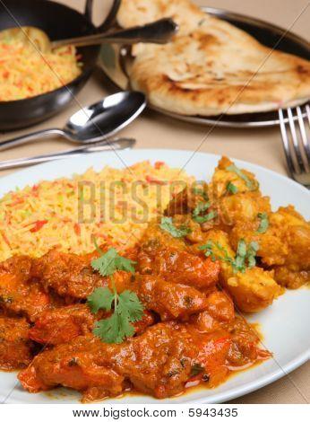 Курица карри Vindaloo еды