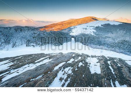 Roan Highlands Jane Bald Appalachian Trail Winter Sunrise
