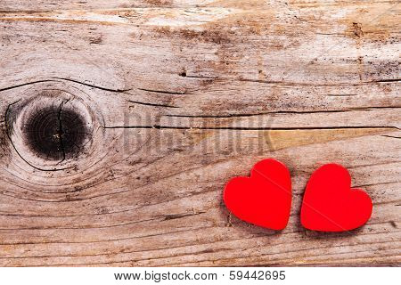 Valentines Day Background With Heart Symbols.