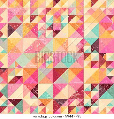 Triangle geometric retro pattern