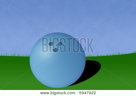 Bowling Ball Court Illustration