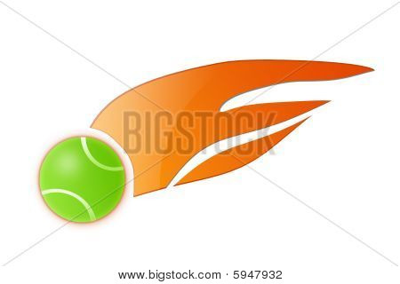 Flame Tennis Ball Illustration