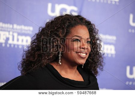 SANTA BARBARA - FEB 5: Oprah Winfrey at the 29th Santa Barbara International Film Festival Montecito Award at the Arlington Theater on February 5, 2014 in Santa Barbara, CA